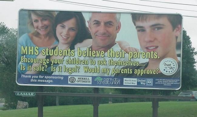 Billboard - Hwy K North of Merrill by Prairie River