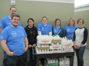 Thank you to Lindsey, Kelsey, Nicole, Phil, Danie, Krystal and Riley for replenishing our supply of medicine disposal bottles during Serve With Liberty on May 13, 2016. Employees of Liberty Mutual have helped us each year to make this disposal option possible.